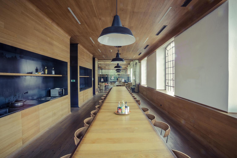mensa aziendale F&M legno e ferro