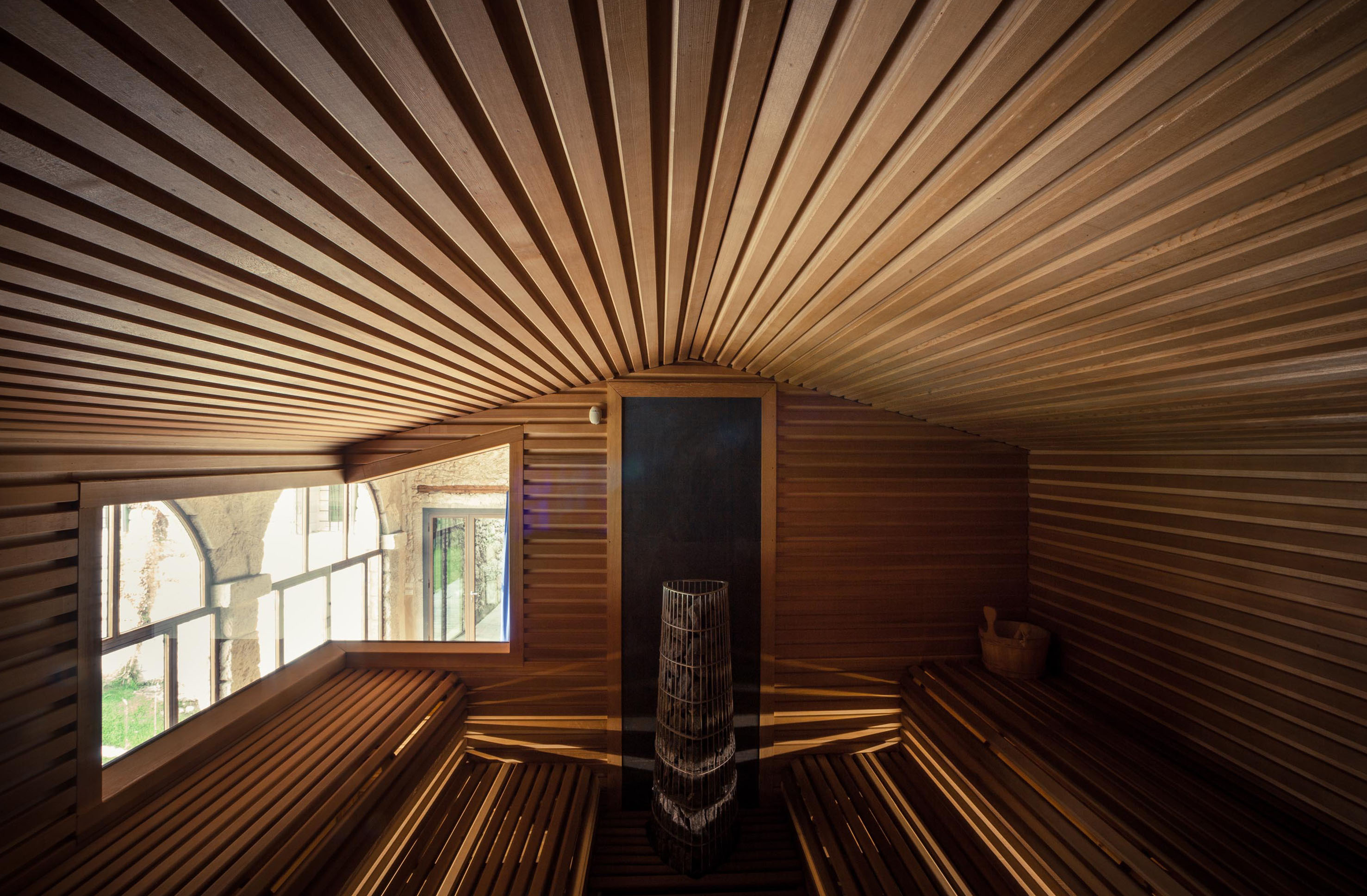 sauna sospesa SPA wellness