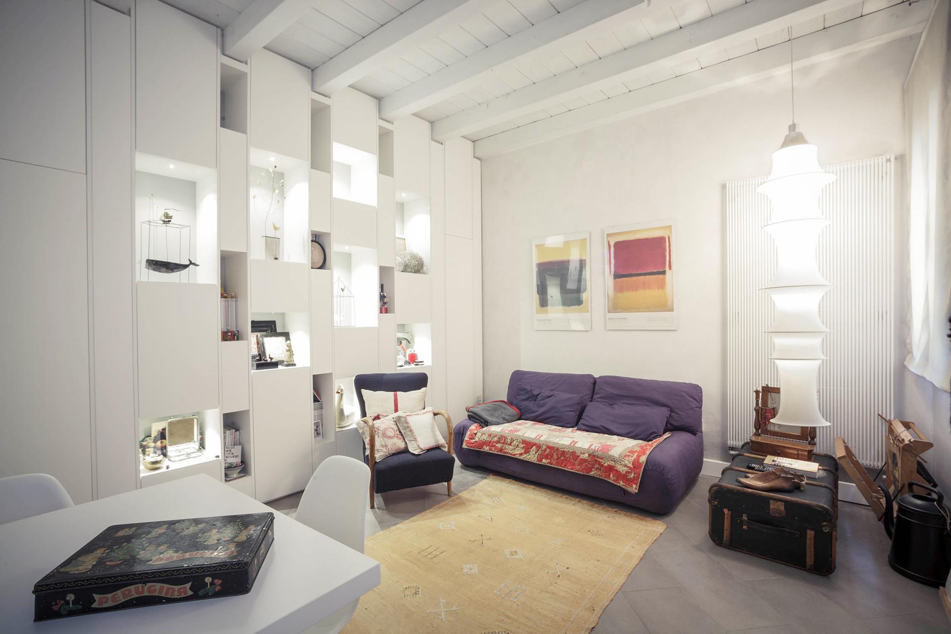 interior design soggiorno casa Effebi