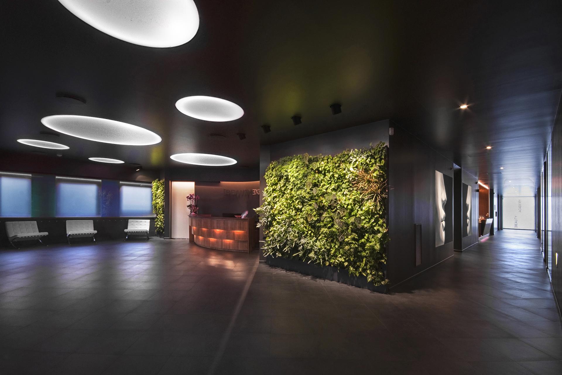 giardino verticale Beauty Experience Academy