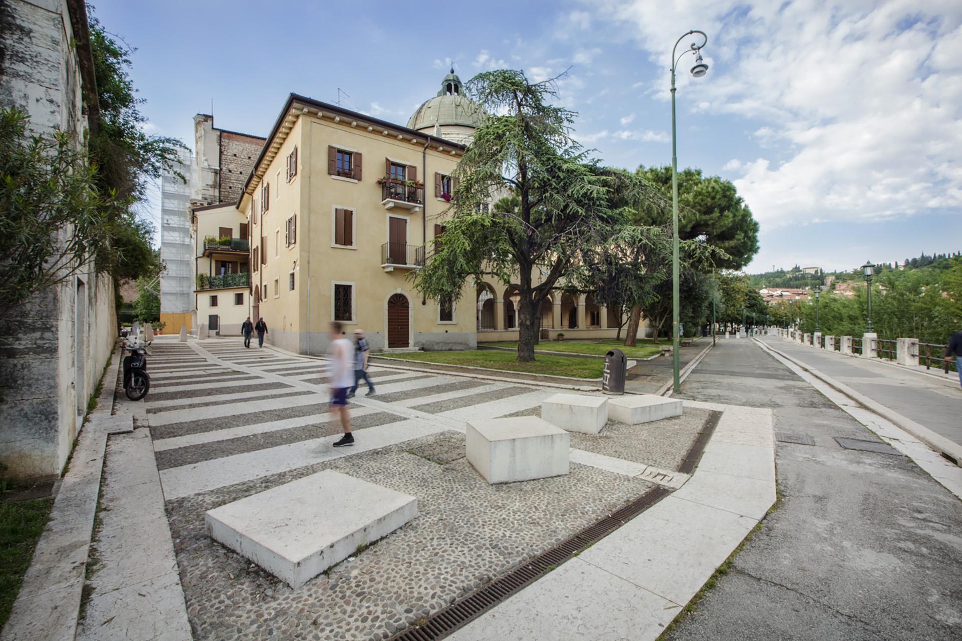 pavimentazione piazzetta San Giorgio in Braida