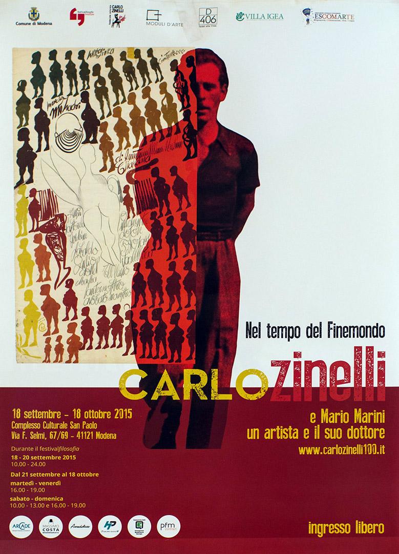 locandina mostra Carlo Zinelli