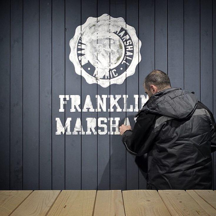 stencil allestimento F&M @ Pitti Immagine Uomo