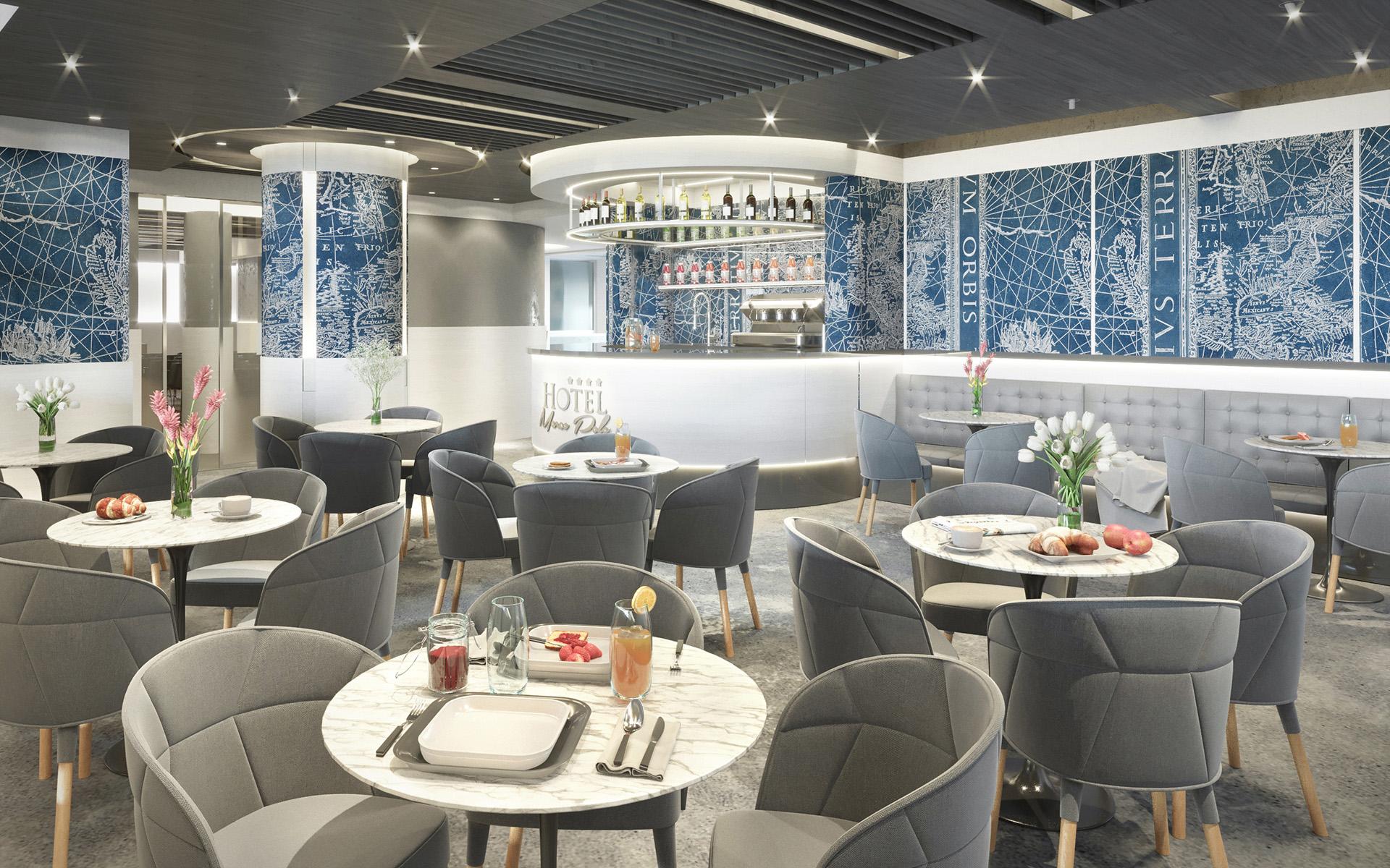 sala colazioni design hotel Marco Polo